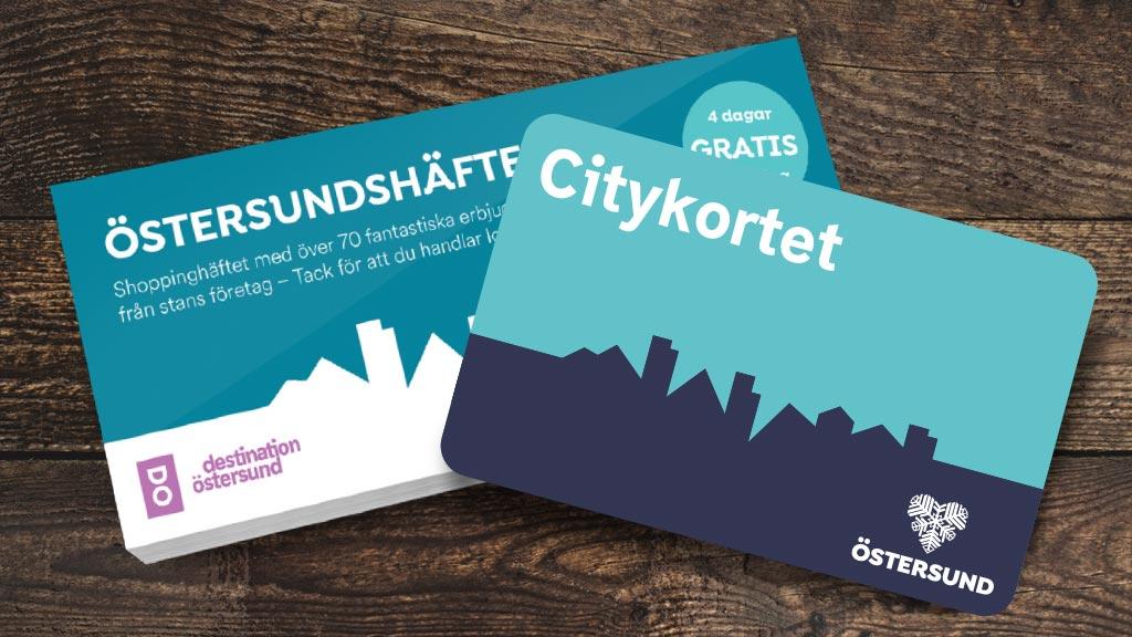 Visit Östersund / Destination Östersund, Citykortet och Östersundshäftet