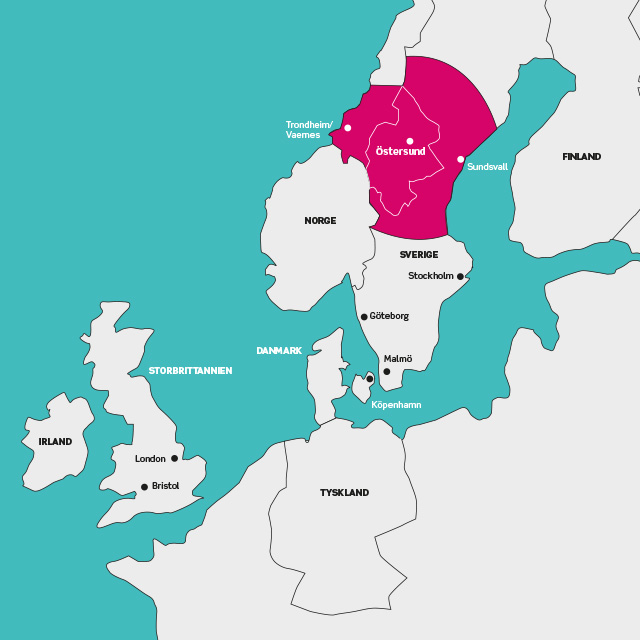 Prioriterade marknader, Destination Östersund